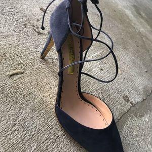 Rupert Sanderson Shoes - Rupert Sanderson Blue Suede Straps